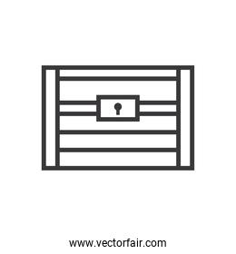 treasure chest line style icon vector design