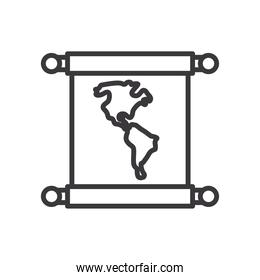 world map line style icon vector illustration