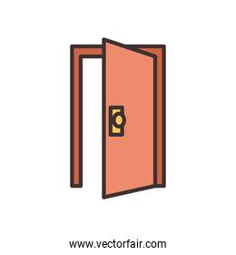 door house line and fill style icon vector design