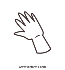 high five hand line style icon vector design