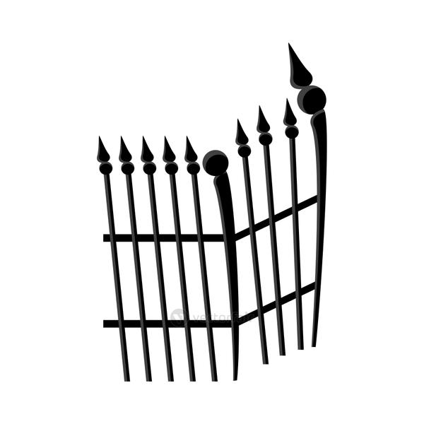 cemetery gate metal isolated icon