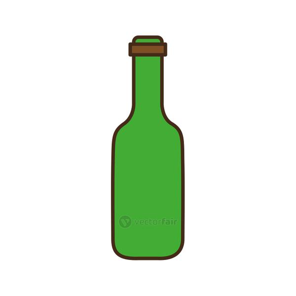 beer bottle line and fill style icon vector design