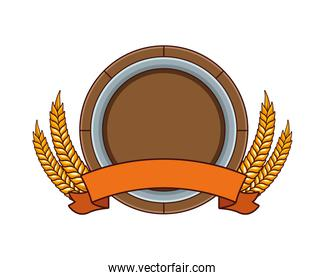 circular frame with wheat spikes crown