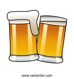 beers jars drinks isolated icon