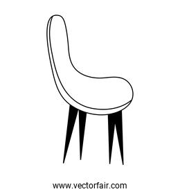 chair furniture comfort isolated icon line style
