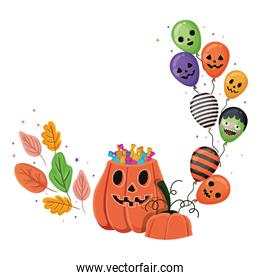 Halloween pumpkin cartoon vector design