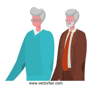 Senior men cartoons vector design