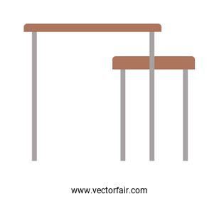 home table with chair vector design