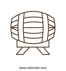 beer barrel line style icon vector design