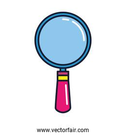 magnifying glass, loupe sign, line and fill style icon