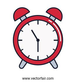 alarm clock, wake up time, line and fill style icon