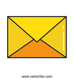 envelope mail, line and fill style icon