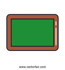 blackboard or chalkboard, line and fill style icon