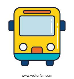 school bus, line and fill style icon