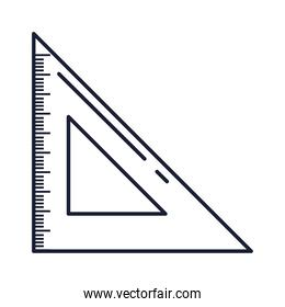 triangle ruler school supply, line style icon