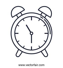 alarm clock, wake up time, line style icon