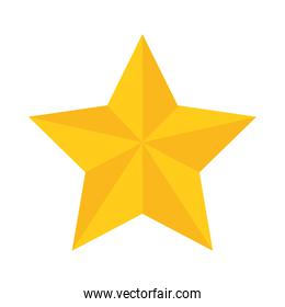 gold star decoration ornament flat icon style
