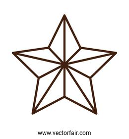 star decoration ornament linear icon style