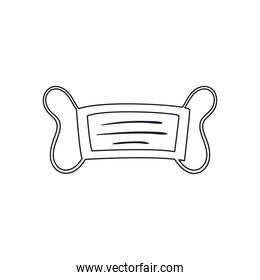 medical mask line style icon vector design