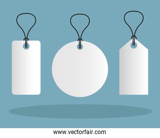 Mockup labels tags vector design