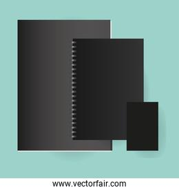 Mockup file and notebooks vector design