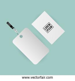 Mockup label and card vector design