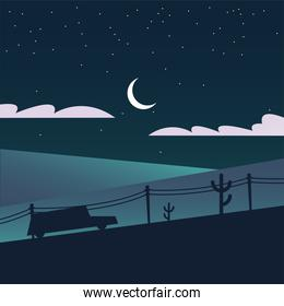 silhouette of car in mountain at night vector design