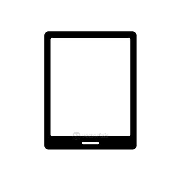 tablet device tech silhouette style icon