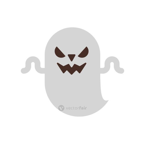 halloween ghost floating flat style icon