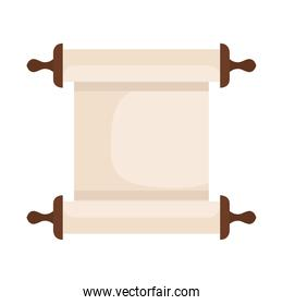 papyrus scroll icon, on white background