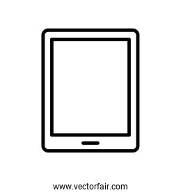 tablet device tech line style icon