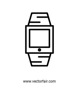 smartwatch technology device line style icon