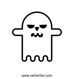 halloween ghost style line icon