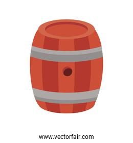 beer barrel wooden oktoberfest flat style icon