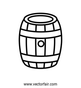 beer barrel wooden oktoberfest line style icon