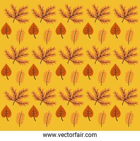 enjoy autumn poster with leafs pattern