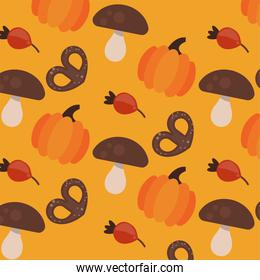 enjoy autumn poster with dry fruits pattern