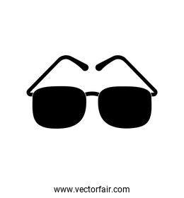 blind glasses silhouette style icon vector design