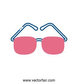 blind glasses line style icon vector design