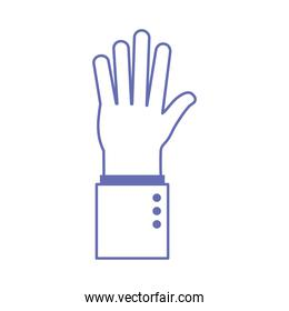 high five hand sign language line and fill style icon vector design