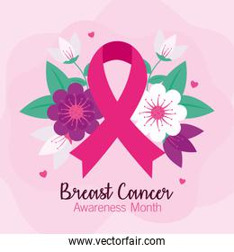 breast cancer awareness banner with