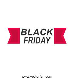 modern lettering of black friday isolated on white background icon flat style