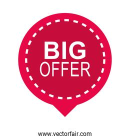 black friday, sticker label big offer layout icon flat style