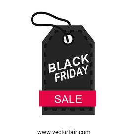 black friday, sale price tag in white background icon flat style