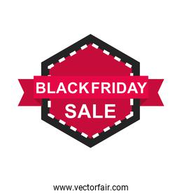 black friday, sale discount label ribbon on a white background icon flat style