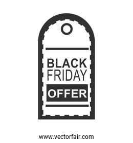 black friday, tag price offer sale market design icon silhouette style