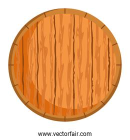 round wood piece isolated icon over white background
