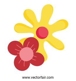 flowers petals decoration nature isolated icon over white background