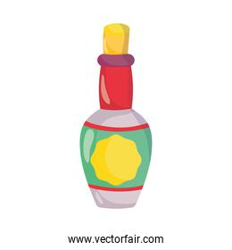 tequila bottle drink liquor isolated icon over white background