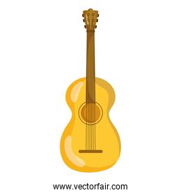 musical guitar instrument isolated icon over white background